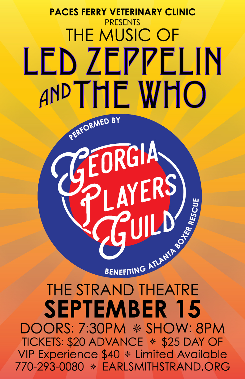 Georgia Players Guild The music of Led Zeppelin and The Who - Earl Smith Strand Theater Marietta Square